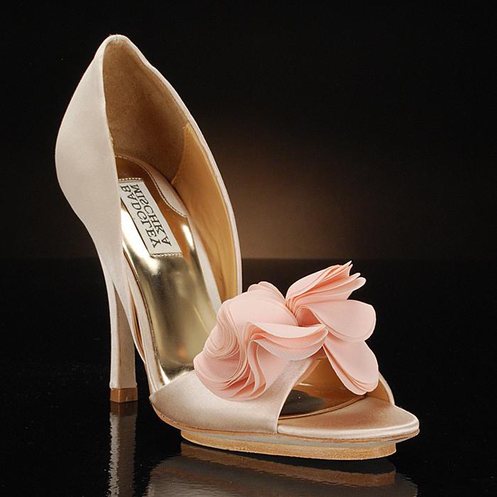 badgley mischka randall wedding shoes and randall dyeable