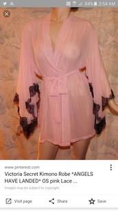 pajamas,pink,lace,robe,silk,underwear