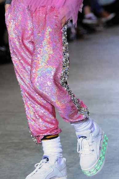 sneakers pants sequins glitter designer vintage grunge light up platform sneakers