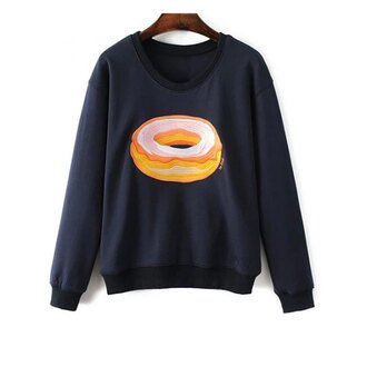 sweater fall outfits navy donut winter outfits fall sweater winter sweater long sleeves casual trendy trendsgal.com