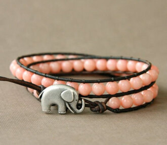 bracelets elephant pink jewels jewels