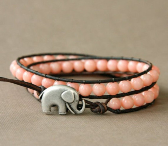 pink jewels elephant bracelet jewels bracelets