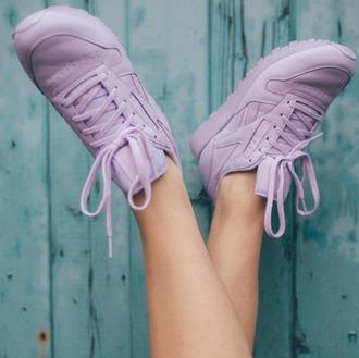 shoes reebok reebok classic purple pastel pastel pink violet pastel purple spring lovely cute nike adidas vans jordans