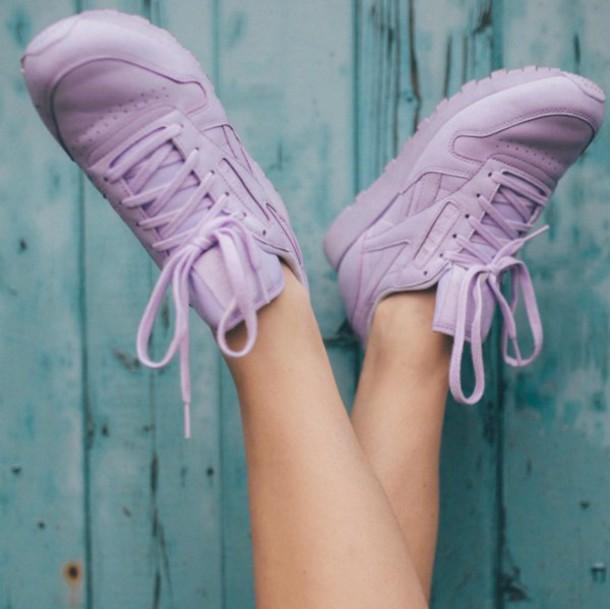 c5025a28097cb shoes Reebok reebok classic purple pastel pastel pink violet pastel purple  spring lovely cute nike adidas