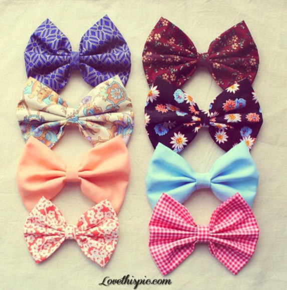 silk hair accessories different colors different patterns