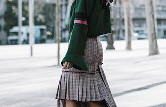 mesvoyagesàparis blogger sweater skirt bag shoes