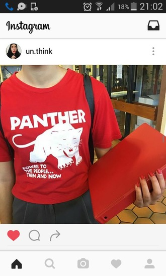 t-shirt black panther panther red red tee red t-shirt red panther power to the people black panthers black lives matter black lives matter shirt