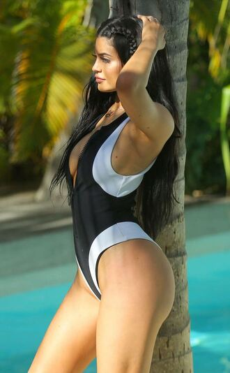 swimwear one piece swimsuit kylie jenner summer