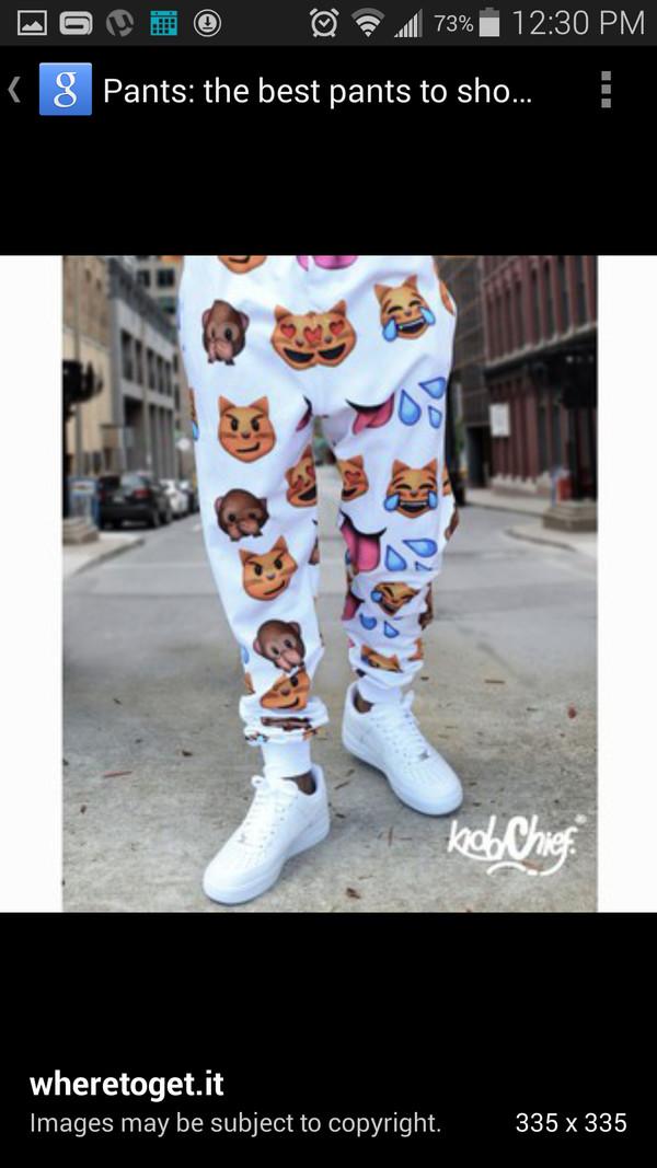 emoji pants