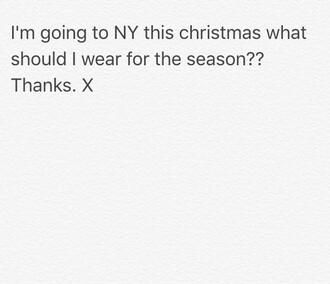 sweater new york city gloves leggings jeans christmas