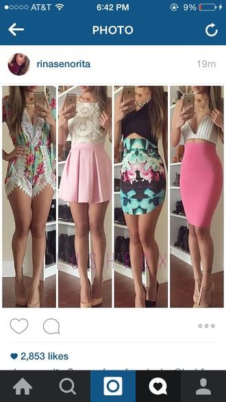 skirt pink skirt white and pink dress dress jumpsuit