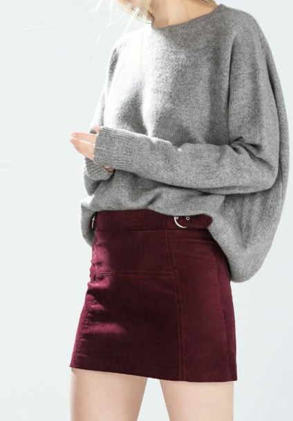 skirt velvet skirt sweater