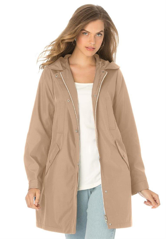 Jessica London Women's Plus Size Multi-Pocket Raincoat at Amazon Women's Coats Shop
