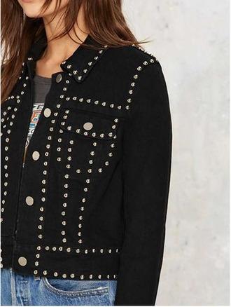 jacket girl girly girly wishlist black denim jacket button up black denim
