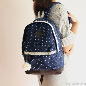 bag polka dots
