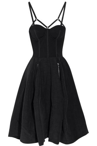 dress black black dress strapped goth