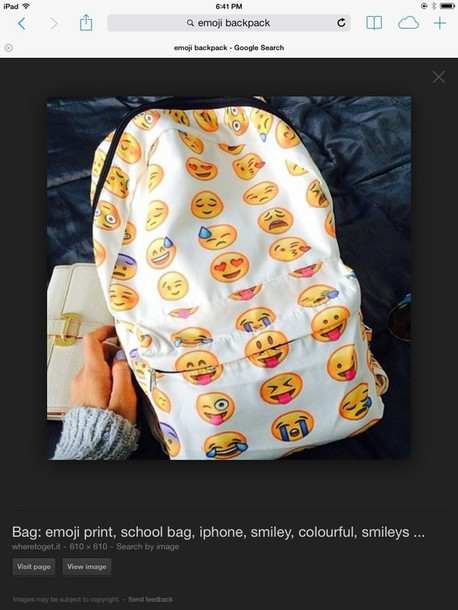 bag emoji back pack emoji print backpack