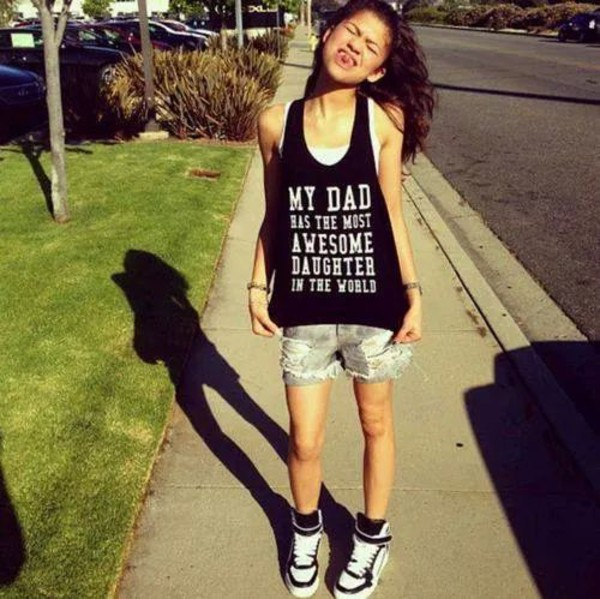 t-shirt swag zendaya daddy daughter