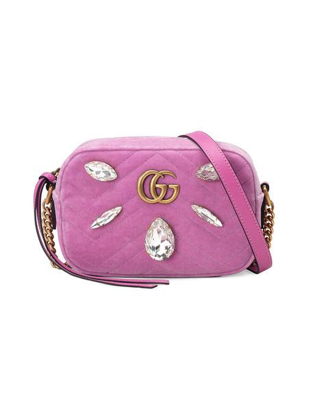 mini metal women bag mini bag silk velvet purple pink