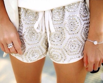 shorts pearl silver style summer shorts