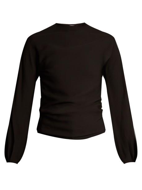 top back open black