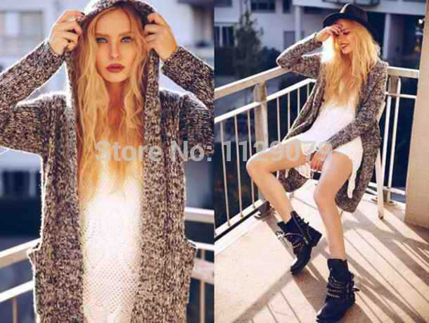 Aliexpress.com : Buy 2014 new fashion contrast color full regular sleeve standard wool flat knitted cardigans with pocket and cap OM241 from Reliable cardigan beige suppliers on sexy dress 2014