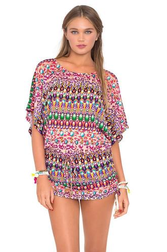 dress luli fama cover up multicolor beach dress summer dress bikiniluxe