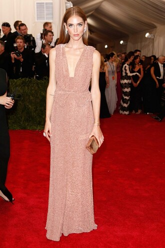 the blonde salad blogger calvin klein glitter dress metgala2015 red carpet dress