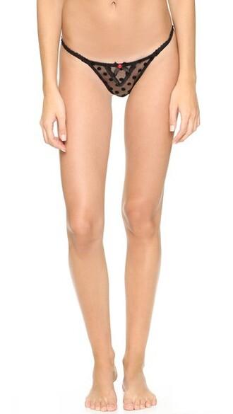 thong black underwear