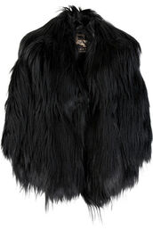 jacket,fur,goth,glamour,grunge,black,faux fur,coat,fashion,faux fur jacket,burberry