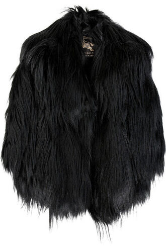 jacket fur goth glamour grunge black faux fur gothic coat fashion faux fur jacket burberry
