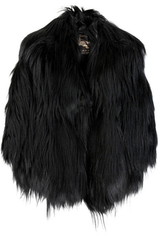 jacket fur goth glamour grunge black faux fur goth coat fashion faux fur jacket burberry