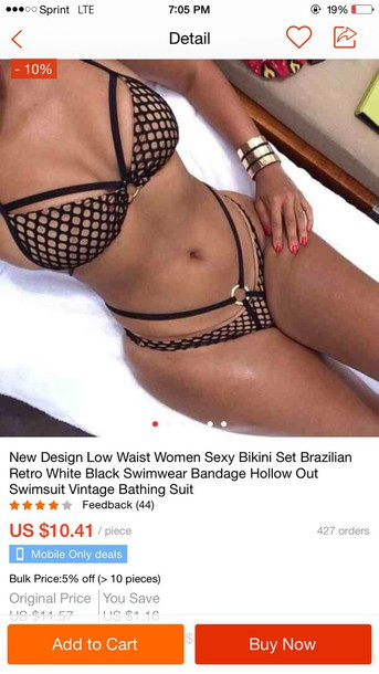 swimwear black bikini mall