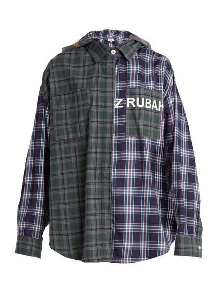 shirt oversized cotton green top