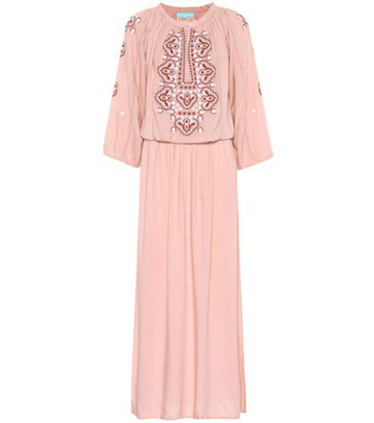 Melissa Odabash dress maxi dress maxi embroidered pink