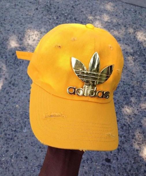 hat yellow adidas cap 659b9b93bb6