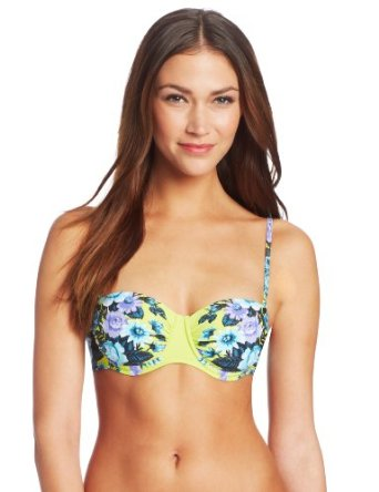 Amazon.com: Seafolly Women's Bella Rose Bustier Bikini Bra: Seafolly: Clothing
