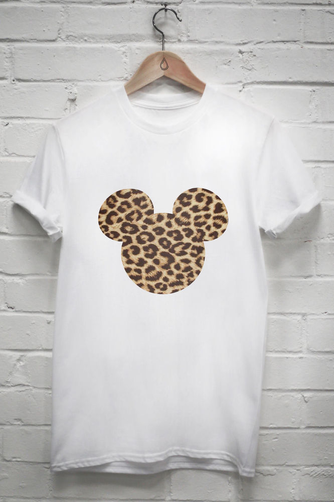Mickey mouse tshirt leopard print cute swag t