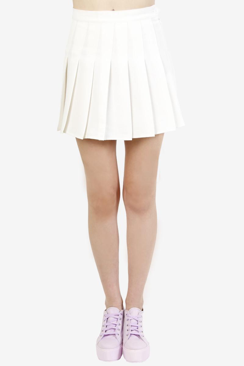 tennis pleat skirt high waist echo club house