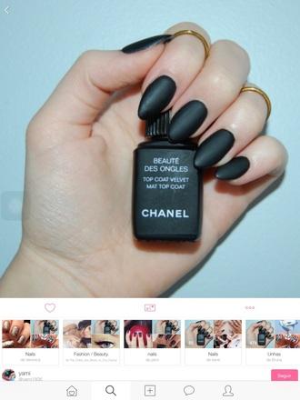 nail polish nail cute black channe