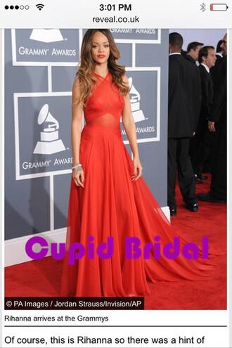 dress rihanna prom dress long evening dresses red carpet dress evening gown