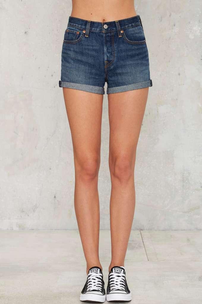 Wedgie Short Denim Shorts