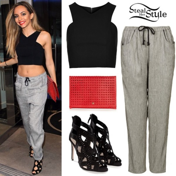 shirt jade thirlwall crop tops