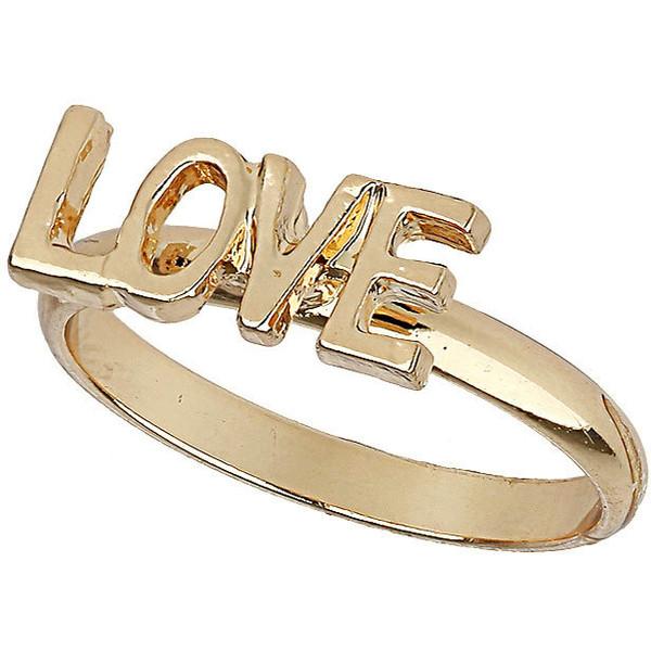 TOPSHOP Love Midi Ring - Polyvore