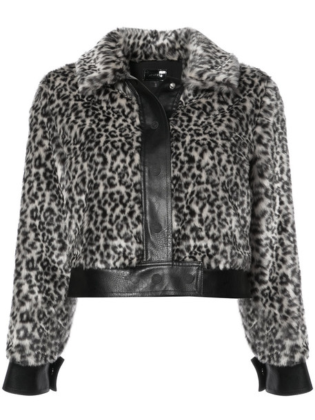 Mother jacket cropped jacket cropped women print brown leopard print