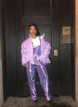 pants overalls karrueche instagram jacket winter outfits