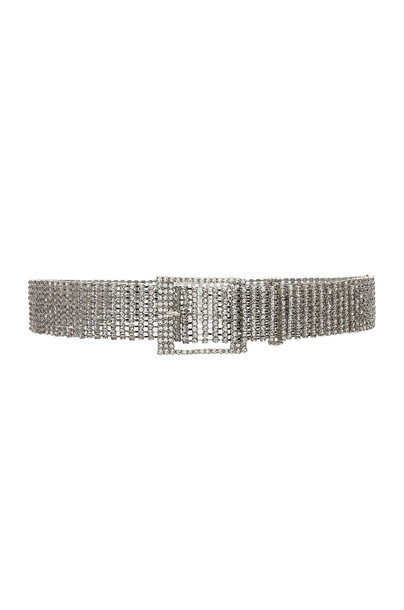 belt metallic silver
