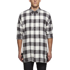 Chapter deo long plaid shirt in white check