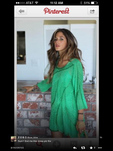 dress green dress sequin dress