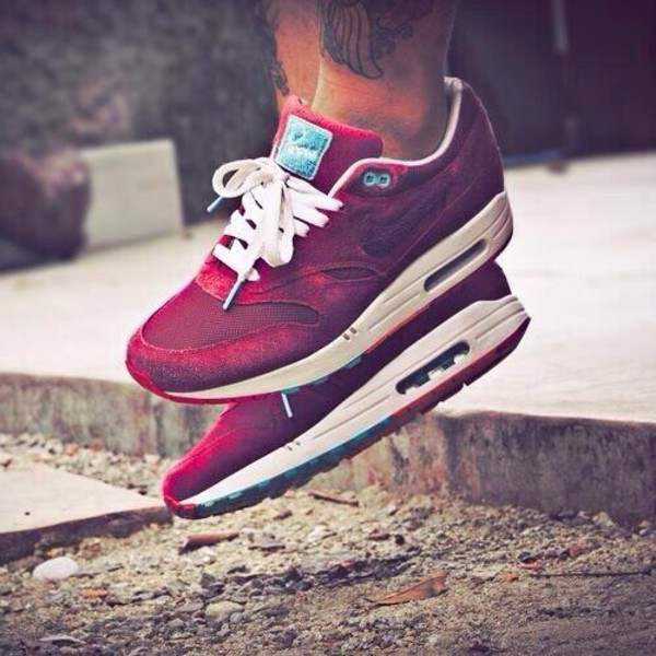 shoes nike nike running shoes nike air max 1 air max nike air burgundy mens shoes